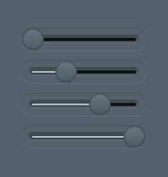 gray slider bar vector image