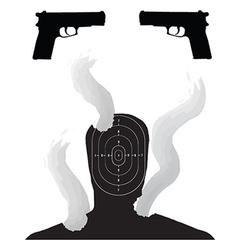 Gun target vector image