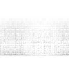 halftone effect background monochrome square dots vector image