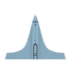 Hallgrimskirkja architectural landmark vector