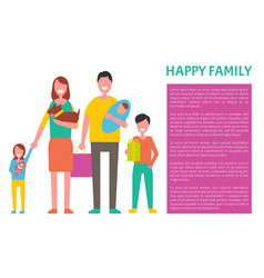 happy family spending time together concept vector image