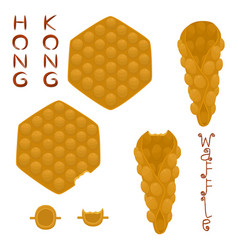Icon logo for set various sweet hong vector