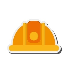 industrial helmet icon vector image