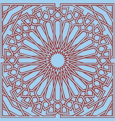 Islamic interlace pattern vector