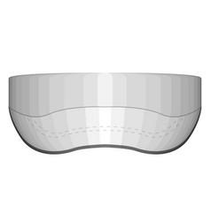 Isolated visor cap image vector