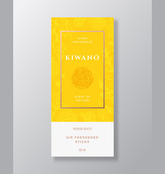 Kiwano fruit home fragrance abstract label vector
