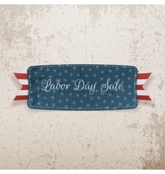 Labor Day Sale Tag with Text vector
