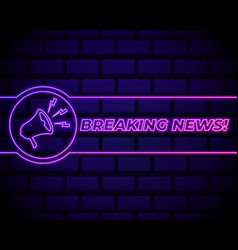 latest news sign design template breaking news vector image