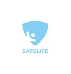 life guard logo design template vector image