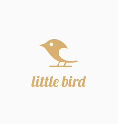 little bird logo vector image