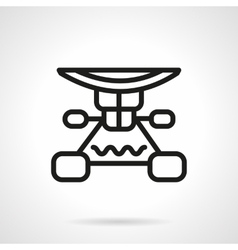 Longboard suspension black line design icon vector image