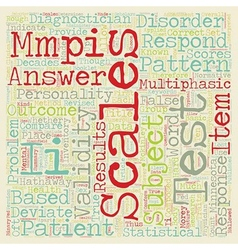 MMPI II Test text background wordcloud concept vector image