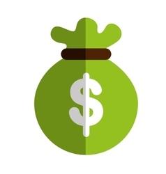 Money sack icon vector