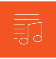 Musical note line icon vector image