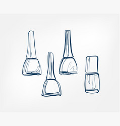nail polish line art sketch outline isolated vector image