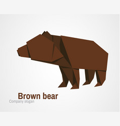 orvhami logo with brown bear vector image