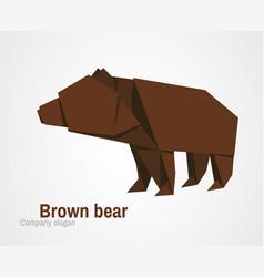 orvhami logo with brown bear vector image