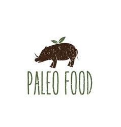 Paleo food hog design template vector