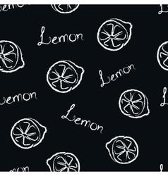 Seamless Pattern Lemon vector