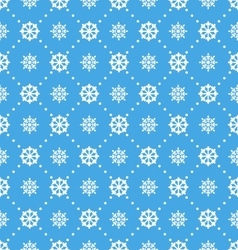 Seamless Wallpaper with Beautiful Snowflakes vector image
