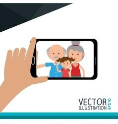 selfie photography design vector image
