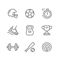 set line icons sport vector image