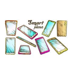smartphone technology gadget set color vector image