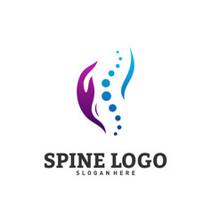 Spine care logo design concept chiropractic logo vector