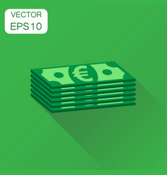 stacks of euro cash icon business concept euro vector image