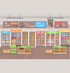 supermarket interior big vector image