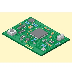Surface mount technology PCBA vector