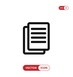 text documents icon vector image