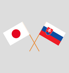 The slovakian and japanese flags vector