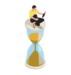 Time management icon vector