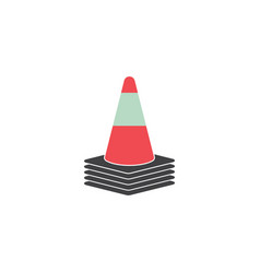 traffic cone road graphic design template isolated vector image
