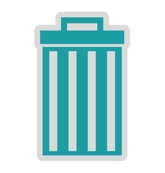 Waste delete isolated icon design vector