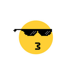 whistling round emoji like a boss vector image