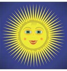 Yellow Cartoon Sun Icon vector