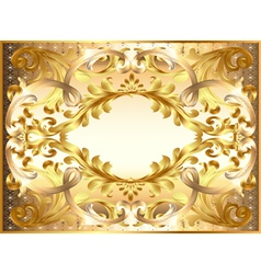 background painting frame with ornaments vector image vector image