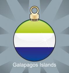 Galapagos islands flag on bulb vector image vector image