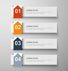 paper infographic25 vector image vector image