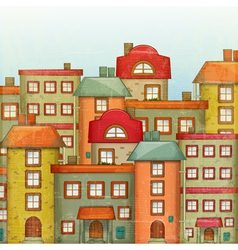 Town Background vector image vector image