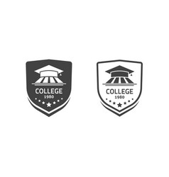 university crests and college school emblems set vector image vector image