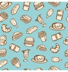 vintage food pattern vector image vector image