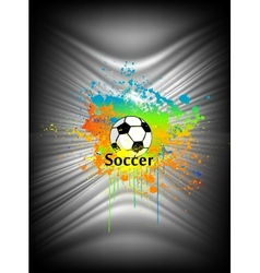 Abstract background with soccer ball vector image