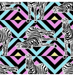 Abstract hand painted seamless animal background vector image