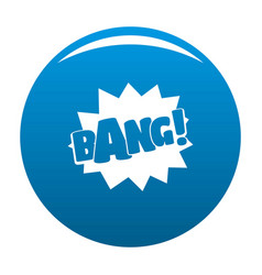 comic boom bang icon blue vector image vector image