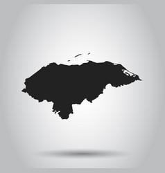 Honduras map black icon on white background vector