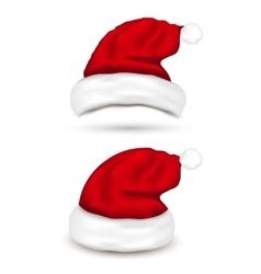 Set of Santa Hats on white background vector image
