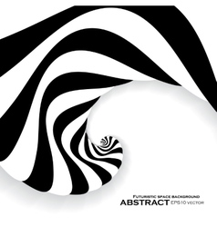 Spiral abstract background dynamic optical art vector image vector image